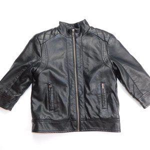 Joe Fresh Boys 2T Faux Leather Sherpa lined Jacket